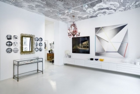 Realizace tapety, interiér Prague Kabinet