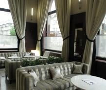 J&T banka Café, Ostrava - realizece textilu