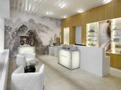 Látkový podhled - Salon Sensai. Design ABM architekti. Foto Filip Šlapal.
